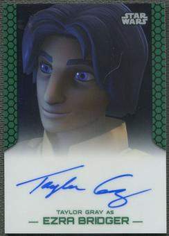 2015 Star Wars Chrome Perspectives Jedi vs. Sith Taylor Gray as Ezra Bridger Auto