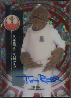 2015 Star Wars High Tek Tim Rose as Admiral Ackbar Red Orbit Diffractor Auto #5/5