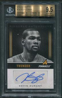 2013/14 Pinnacle #116 Kevin Durant Auto BGS 9.5 (GEM MINT)