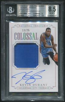 2014/15 Panini National Treasures #CJSKD Kevin Durant Colossal Jersey Auto #13/25 BGS 8.5 (NM-MT+)