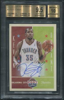 2012/13 Panini Past and Present #58 Kevin Durant Signatures Auto BGS 9.5 (GEM MINT)