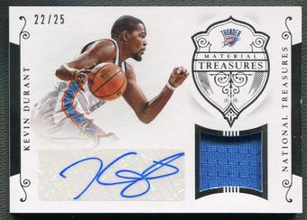 2014/15 Panini National Treasures #MTSKD Kevin Durant Material Treasures Jersey Auto #22/25