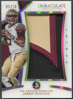 2015 Immaculate Collection Jameis Winston The College Standard Rookie Jumbo Patch #05/10