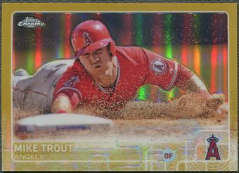 2015 Topps Chrome #51 Mike Trout Gold Refractor #01/50