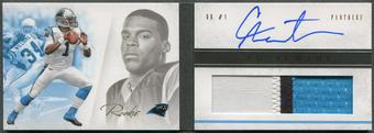 2011 Panini Playbook #107 Cam Newton Gold Rookie Patch Auto #23/49