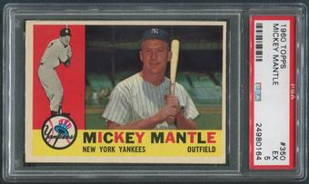 1960 Topps Baseball #350 Mickey Mantle PSA 5 (EX)