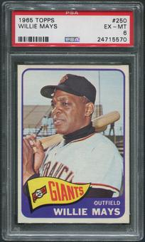 1965 Topps Baseball #250 Willie Mays PSA 6 (EX-MT)