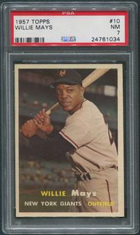 1957 Topps Baseball #10 Willie Mays PSA 7 (NM)