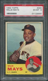 1963 Topps Baseball #300 Willie Mays PSA 6 (EX-MT)