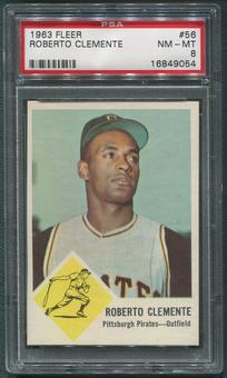 1963 Fleer Baseball #56 Roberto Clemente PSA 8 (NM-MT)