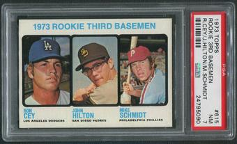 1973 Topps Baseball #615 Rookie Third Basemen Mike Schmidt Rookie PSA 7 (NM)