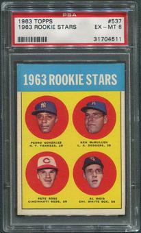 1963 Topps Baseball #537 Rookie Stars Pete Rose Rookie PSA 6 (EX-MT)