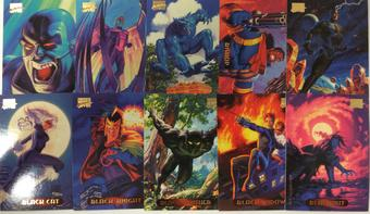 Marvel Masterpieces Trading Card Set of 140 (1994 Fleer)