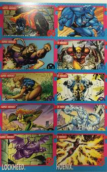 X-Men Jim Lee Trading Card Set of 100 (1992 Impel)