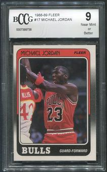 1988/89 Fleer Basketball #17 Michael Jordan BCCG 9 (NM)