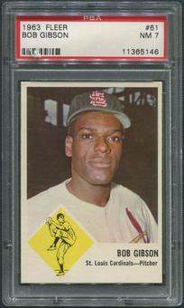 1963 Fleer Baseball #61 Bob Gibson PSA 7 (NM)