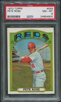 1972 Topps Baseball #559 Pete Rose PSA 8 (NM-MT)