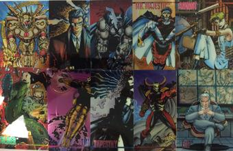 Wildstorm Set 1 Chromium Trading Card Set of 100 (1994 Image)