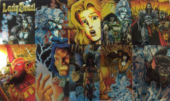 Chaos Lady Death Chromium Trading Card Set (1994 Krome Productions)
