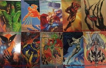 Marvel Masterpieces Series 2 Trading Card Set of 90 (1993 Skybox)