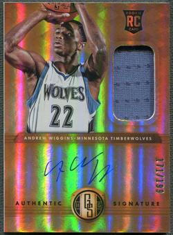 2014/15 Panini Gold Standard #201 Andrew Wiggins Rookie Jersey Auto #171/199
