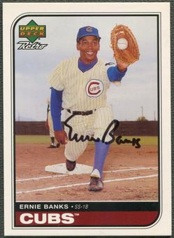 1998 Upper Deck Retro #EB Ernie Banks Sign of the Times Auto /300