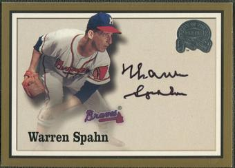2000 Greats of the Game #82 Warren Spahn Auto SP