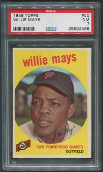 1959 Topps Baseball #50 Willie Mays PSA 7 (NM)