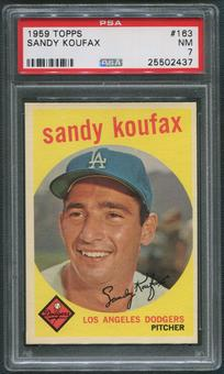 1959 Topps Baseball #163 Sandy Koufax PSA 7 (NM)