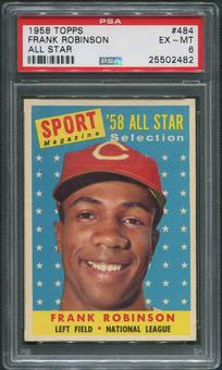 1958 Topps Baseball #484 Frank Robinson All Star PSA 6 (EX-MT)