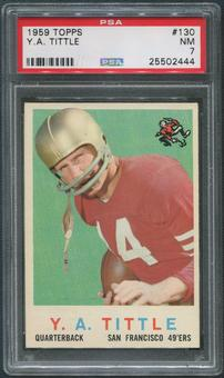 1959 Topps Football #130 Y.A.Tittle PSA 7 (NM)