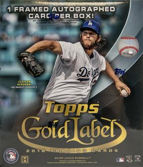 2016 Topps Gold Label Baseball Hobby Box
