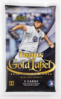 2016 Topps Gold Label Baseball Hobby Pack