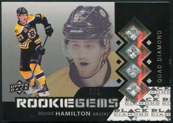 2013-14 Black Diamond #241 Dougie Hamilton Rookie Gems Quad Diamond Redemption #1/1