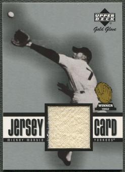 2001 Upper Deck Gold Glove #GGMMA Mickey Mantle Game Jersey SP /264