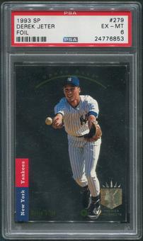 1993 SP Baseball #279 Derek Jeter Rookie PSA 6 (EX-MT)