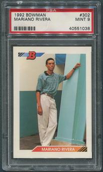 1992 Bowman Baseball #302 Mariano Rivera Rookie PSA 9 (MINT)