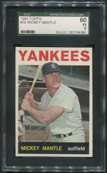 1964 Topps Baseball #50 Mickey Mantle SGC 60 (EX) 5