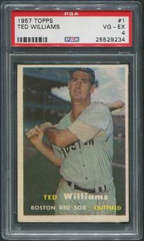 1957 Topps Baseball #1 Ted Williams PSA 4 (VG-EX)
