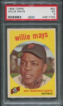 1959 Topps Baseball #50 Willie Mays PSA 5 (EX)
