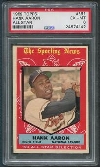 1959 Topps Baseball #561 Hank Aaron All Star PSA 6 (EX-MT)