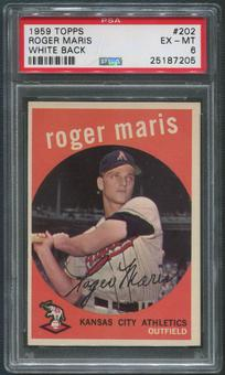 1959 Topps Baseball #202 Roger Maris White Back PSA 6 (EX-MT)