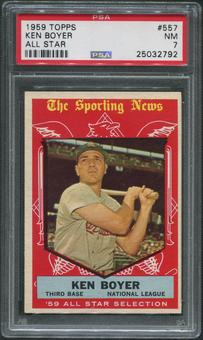 1959 Topps Baseball #557 Ken Boyer All Star PSA 7 (NM)