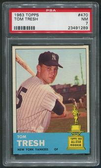 1963 Topps Baseball #470 Tom Tresh SP PSA 7 (NM)