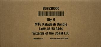 Magic the Gathering Kaladesh Bundle 6-Box Case