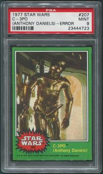 1977 Star Wars #207 C-3PO Anthony Daniels Obscene Error PSA 9 (MINT)