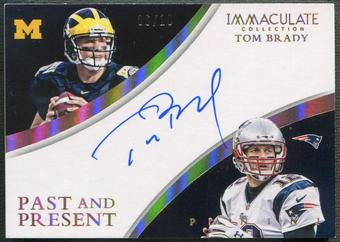 2015 Immaculate Collection #1 Tom Brady Past and Present Auto #06/10