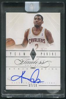 2012/13 Panini Flawless #37 Kyrie Irving Team Panini Rookie Auto #07/10