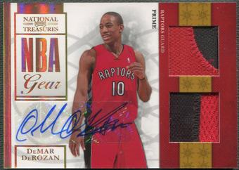 2009/10 Playoff National Treasures #13 DeMar DeRozan Rookie NBA Gear Dual Patch Auto #35/49