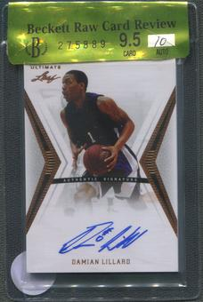 2012/13 Leaf Ultimate #DL1 Damian Lillard Rookie Auto BGS 9.5 Raw Card Review